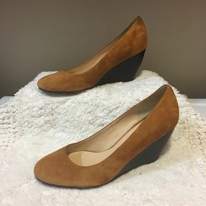 Cole Haan Shoes - Cole Haan Air Lainey Wedges Camello Suede size 10B